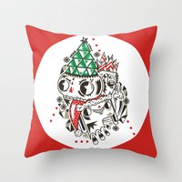 fez Throw Pillows featuring Fez by Polypop