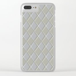 Grey Smudged Diamonds Clear iPhone Case