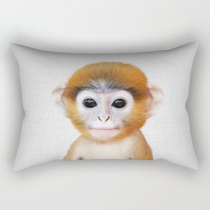 Baby Monkey - Colorful Rectangular Pillow