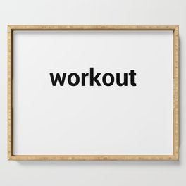 workout Serving Tray
