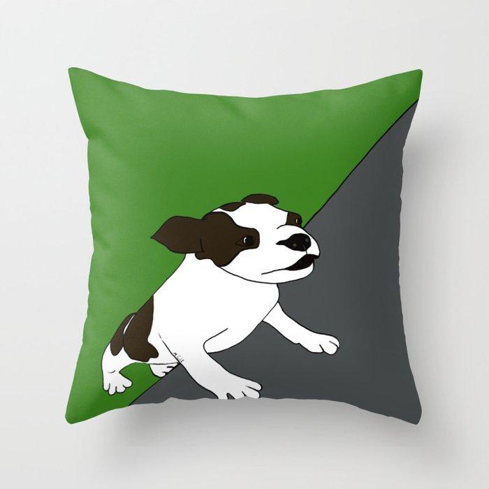 Annie The Boston Terrier Throw Pillow