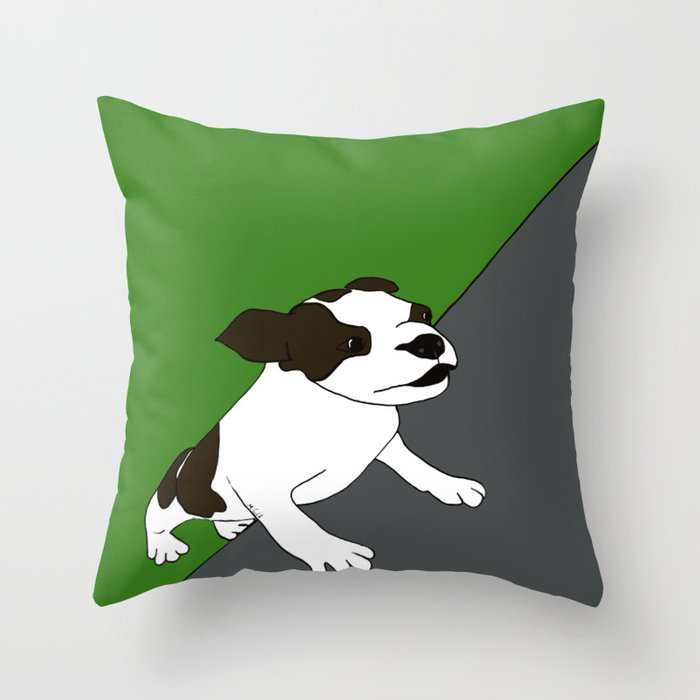 Annie The Boston Terrier Throw Pillow