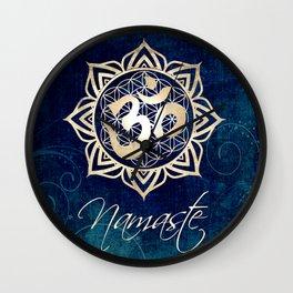 Namaste Lotus Flower of Life Mandala Wall Clock