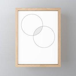 Collision Framed Mini Art Print