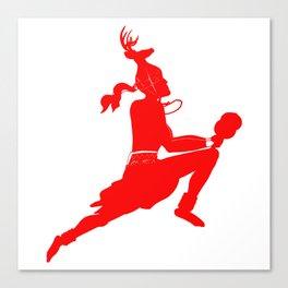 Logtipo de la danza del Venado Canvas Print