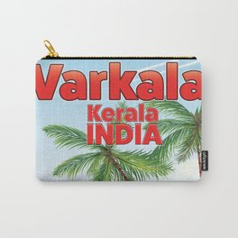 Varkala Indian toucan travel poster. Carry-All Pouch