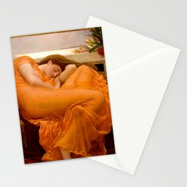 FLAMING JUNE - FREDERIC LEIGHTON (RESTORED) Stationery Cards