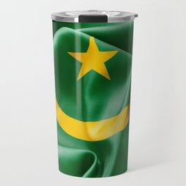 Mauritania Flag Travel Mug