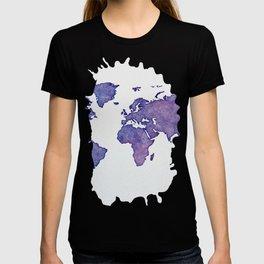 Purple World Map 02 T-shirt