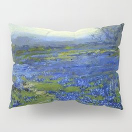 Meadow of Wild Blue Irises, Springtime by Maria Oakey Dewing Pillow Sham