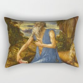 Saint Jerome in the Wilderness by Albrecht Dürer Rectangular Pillow