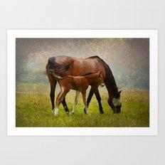 Mom and Baby Art Print