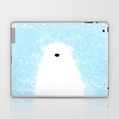 Its A Polar Bear Blinking In A Blizzard - Blue Laptop & iPad Skin