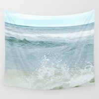 salt water Wall Tapestries featuring Salt Water for the Soul by Bella Blue Photography