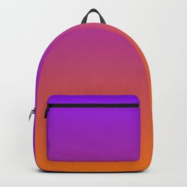 Orange and Purple Ombre Backpack