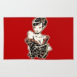 Vector Geisha mosaic Rug