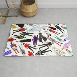 New Year Dress UP Slumber Party Rug