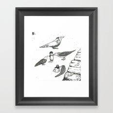 Adventures with birds Framed Art Print