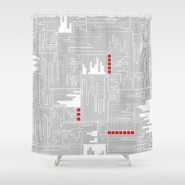 City Lines - Lignes urbaines Shower Curtain