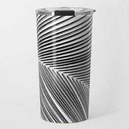 Palm leaf - bw Travel Mug