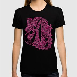 A Zentangled doodle in pink T-shirt