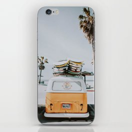 lets surf / venice beach, california iPhone Skin