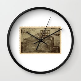 Old Factory Photograph Wall Clock