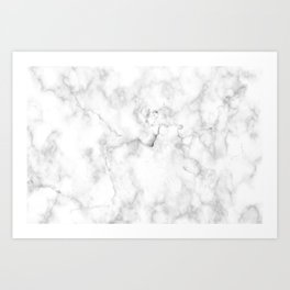 Marble pattern on white background Art Print