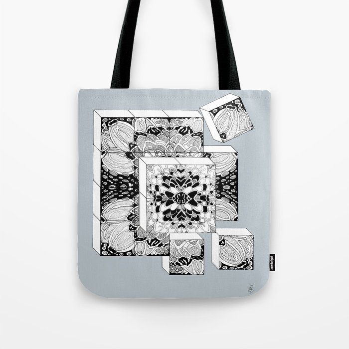 The Cubes in Silver Tote Bag