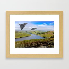 Vee Force in the Valley Framed Art Print