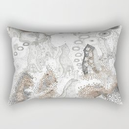 """Gray"" illustration Rectangular Pillow"