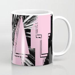 WHAT pink glitch Coffee Mug