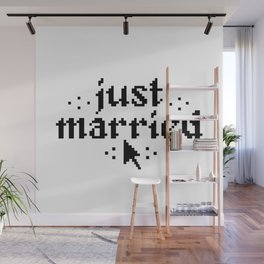 just married couple wedding nerdy gift Wall Mural