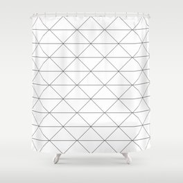 Lines and zigzags black and white pattern Shower Curtain