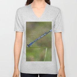 Blue Damselfly Unisex V-Neck