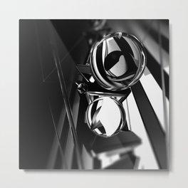 Black Orbs Metal Print