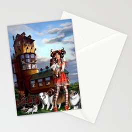 Gothic Lolita in the Shoe with Dogs Stationery Cards