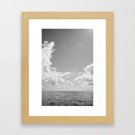 Monochrome Ocean View III Framed Art Print