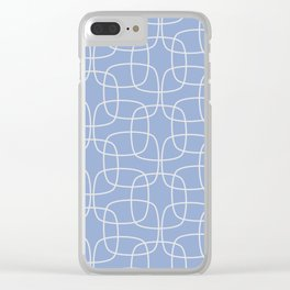 Square Pattern Serenity Clear iPhone Case