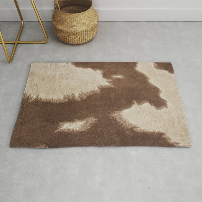 Cowhide Brown And White Rug By Gypsykisspotography