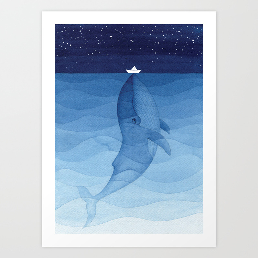 mobydick art prints society6
