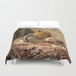 The Squirrel and the Redwood Duvet Cover
