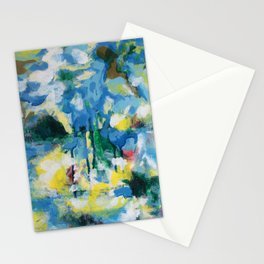 Tempest, oil on wood painting Stationery Cards