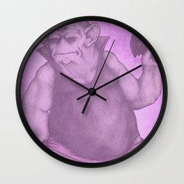 Purple Nurple Wall Clock