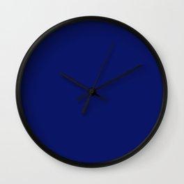 prussian blue Wall Clock