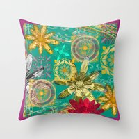 baroque Throw Pillows featuring BAROQUE by PRIMKASTUDIO