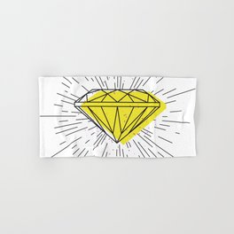 Shiny diamond Hand & Bath Towel