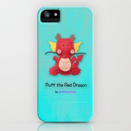 Puff the Red Dragon by leatherprince iPhone Case