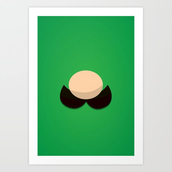 Green Face Art Print