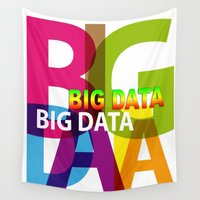 data Wall Tapestries featuring Creative Title : BIG DATA by Don Kuing